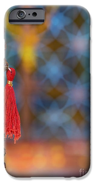 Inner Peace iPhone Cases - Temple Japamala iPhone Case by Tim Gainey