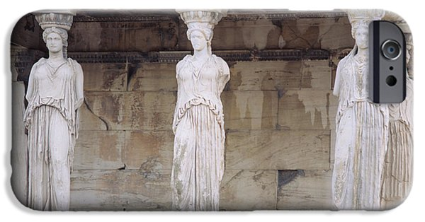 Temple Of Athena Nike iPhone Cases - Temple Of Athena Nike Erectheum iPhone Case by Panoramic Images