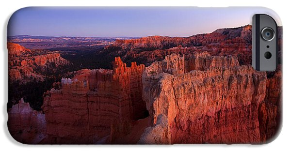 Desert iPhone Cases - Temple of the setting sun iPhone Case by Mike  Dawson
