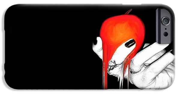 Drama iPhone Cases - Temptation iPhone Case by Frances Lewis