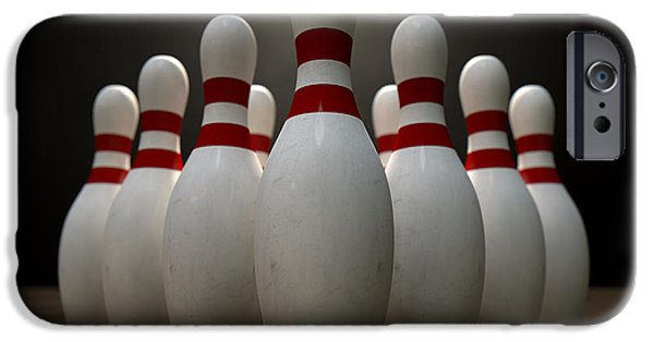 Alley iPhone Cases - Ten Pin Bowling Pins iPhone Case by Allan Swart