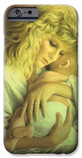 Figure iPhone Cases - Tender Embrace iPhone Case by Barry DeBaun
