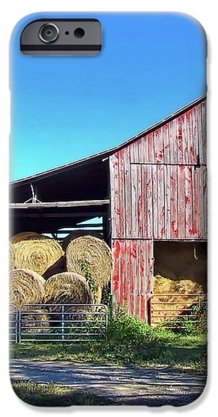 Tennessee Hay Barn iPhone Case by Richard Gregurich