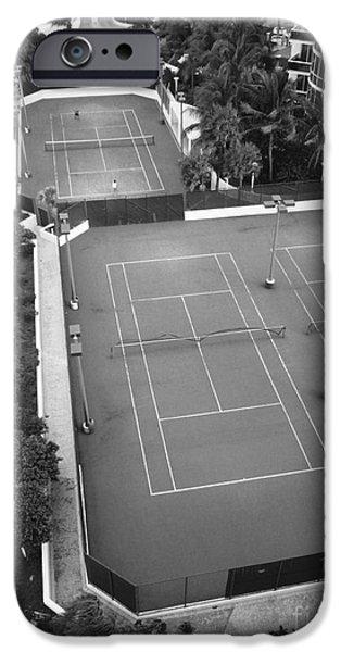 Freedmen iPhone Cases - Tennis Match Miami 2011 iPhone Case by Jason Freedman