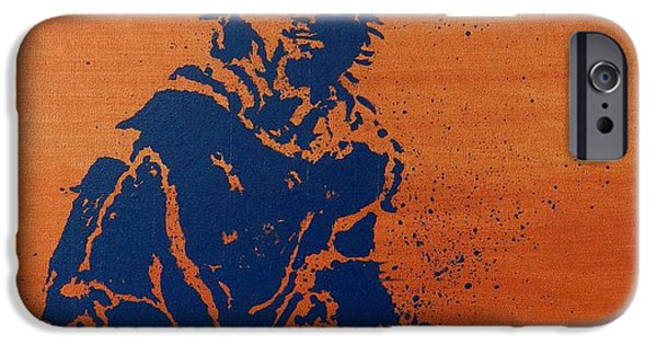 French Open Paintings iPhone Cases - Tennis Splatter iPhone Case by Ken Pursley