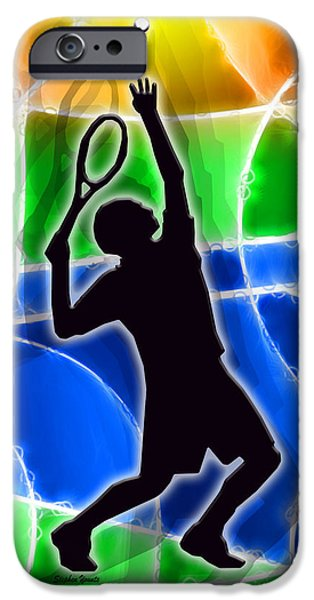 Federer iPhone Cases - Tennis iPhone Case by Stephen Younts