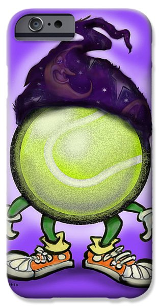 Tennis Wiz iPhone Case by Kevin Middleton