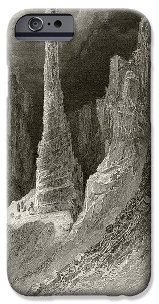 Arctic Drawings iPhone Cases - Tennysons Monument From Arctic iPhone Case by Ken Welsh