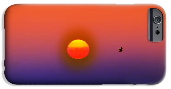 York Beach iPhone Cases - Tequila Sunrise iPhone Case by Bill Cannon