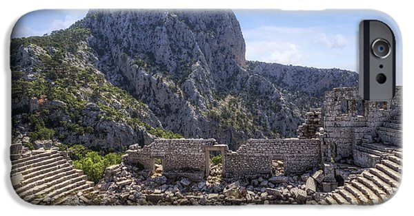 Ancient Ruins iPhone Cases - Termessos - Antalya iPhone Case by Joana Kruse