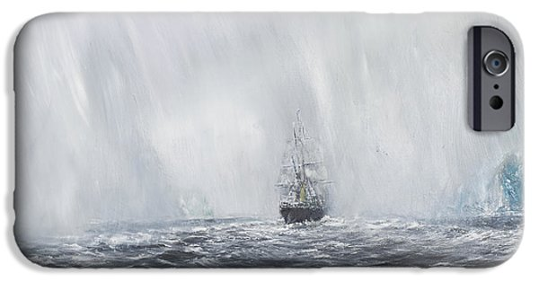 Terra Paintings iPhone Cases - Terra Nova iPhone Case by Vincent Alexander Booth