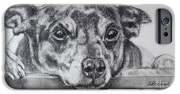 Black Dog iPhone Cases - Terrier Attitude iPhone Case by Susan A Becker
