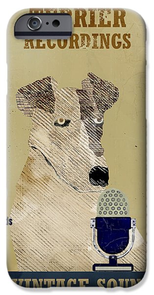 Terrier Digital iPhone Cases - Terrier Records iPhone Case by Bri Buckley