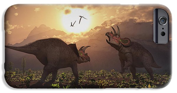 Four Animal Faces iPhone Cases - Territorial Confrontation Between Two iPhone Case by Mark Stevenson