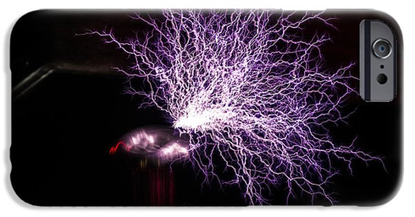 Electrical iPhone Cases - Tesla Coil iPhone Case by Doug LaRue
