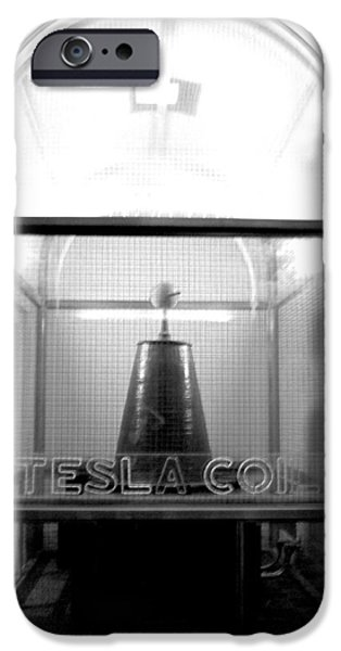Tesla Coil iPhone Case by Jera Sky