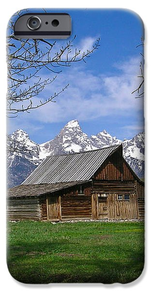 Teton Barn iPhone Case by Douglas Barnett