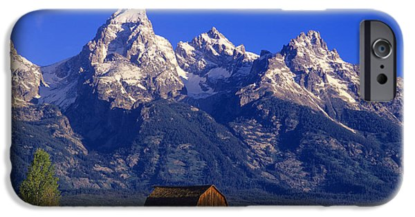 Old Barns iPhone Cases - Teton Homestead iPhone Case by Howie Garber