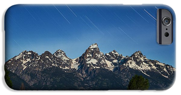 Barn Print Photographs iPhone Cases - Teton Star Trails iPhone Case by Darren  White