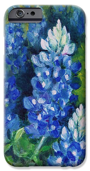 Chatham iPhone Cases - Bluebonnet Patch iPhone Case by Karen Kennedy Chatham