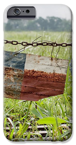 Agricultural iPhone Cases - Texas Flag iPhone Case by Barbara Rabek