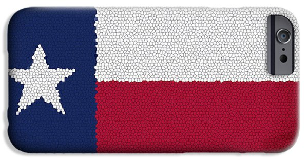 Red Abstract iPhone Cases - Texas Flag Cellular iPhone Case by Daniel Hagerman