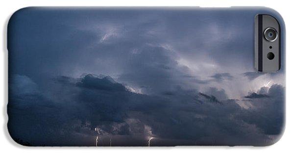 Storm iPhone Cases - Texas Light Show iPhone Case by Karen Slagle
