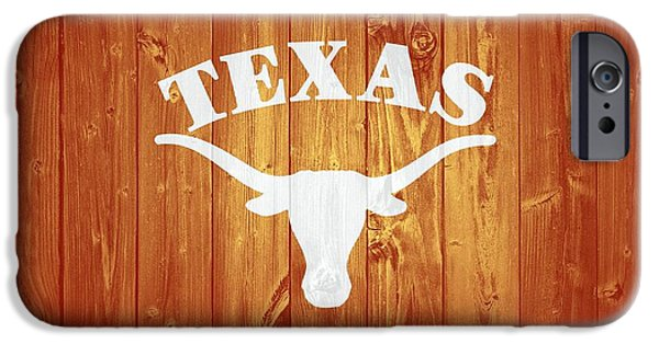 Ems iPhone Cases - Texas Longhorns Barn Door iPhone Case by Dan Sproul