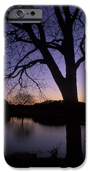 Tree Art Print iPhone Cases - Texas Sunset on the Lake iPhone Case by Kathy Yates