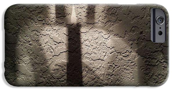 Multimedia iPhone Cases - Textured Shadows iPhone Case by Ann Hamlin