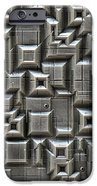 Technology iPhone Cases - Textured Space Tiles iPhone Case by Phil Perkins