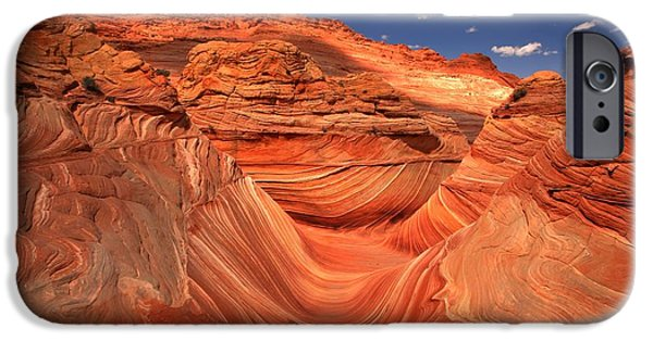 The Plateaus iPhone Cases - Textures Lines And Clouds At The Wave iPhone Case by Adam Jewell