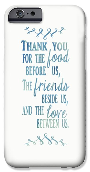 Thanksgiving Digital iPhone Cases - Thank You iPhone Case by Heather Applegate