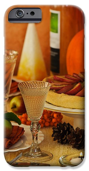 Thanksgiving Table iPhone Case by Amanda And Christopher Elwell