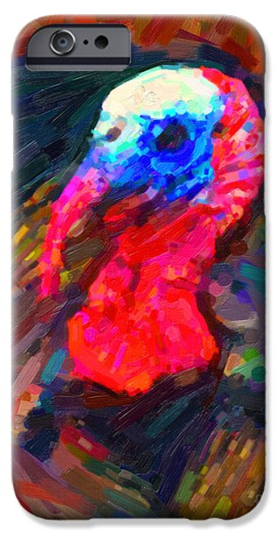 Thanksgiving Digital iPhone Cases - Thanksgiving Turkey iPhone Case by Wingsdomain Art and Photography