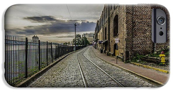 Balcony iPhone Cases - That Old Cobblestone Road 2 iPhone Case by Jamie Anderson