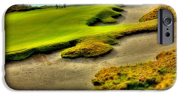 Us Open Photographs iPhone Cases - The #1 Hole at Chambers Bay iPhone Case by David Patterson