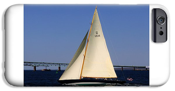 Recently Sold -  - Sailboat iPhone Cases - The 12 Meter Newport iPhone Case by Tom Prendergast