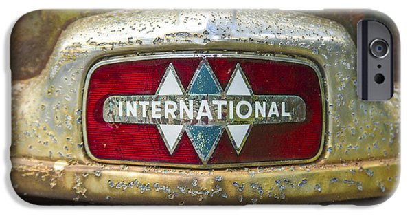 Agricultural iPhone Cases - The 1947 International Emblem IHC Trucks iPhone Case by Reid Callaway
