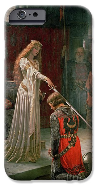 Pre-raphaelites iPhone Cases - The Accolade iPhone Case by Edmund Blair Leighton