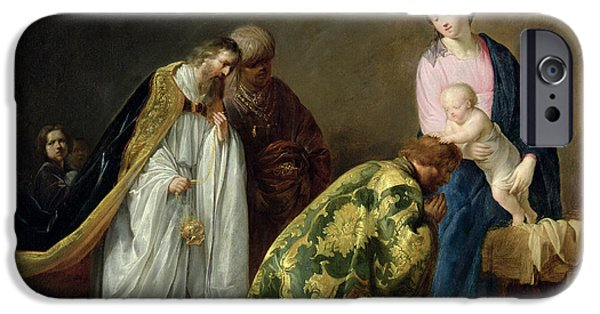 Blessings Paintings iPhone Cases - The Adoration of the Magi iPhone Case by Pieter Fransz de Grebber