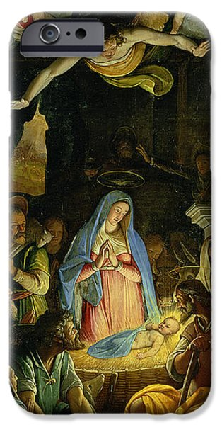 Manger iPhone Cases - The Adoration of the Shepherds iPhone Case by Federico Zuccaro