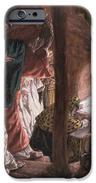 Christmas iPhone Cases - The Adoration of the Wise Men iPhone Case by Tissot