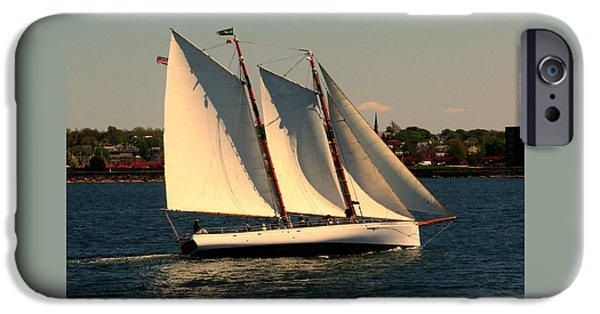Sailboat Ocean iPhone Cases - The Adrondack Newport iPhone Case by Tom Prendergast