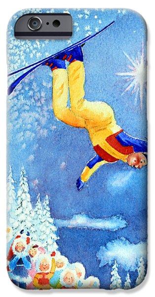 The Aerial Skier 18 iPhone Case by Hanne Lore Koehler
