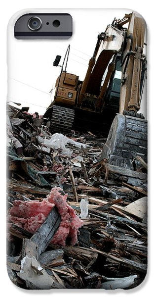 Backhoe iPhone Cases - The Aftermath iPhone Case by Kreddible Trout