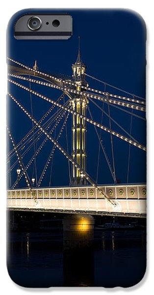 The Albert Bridge London iPhone Case by David Pyatt
