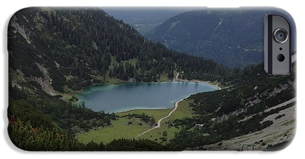 Pines iPhone Cases - The Alps  iPhone Case by Rodolfo Eguiarte
