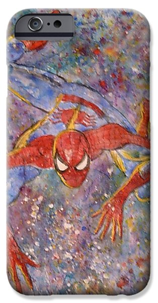 Dr. J iPhone Cases - The Amazing Spider man iPhone Case by Robert Hogg