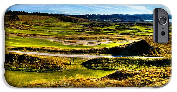 University Of Washington iPhone Cases - The Amazing Vista of Chambers Bay Golf Course iPhone Case by David Patterson